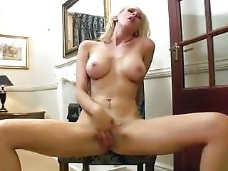 Solo Blonde Masturbation for Valentine's Day