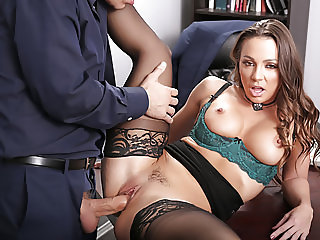 Secretary Abigail Mac fucks her boss