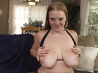 Chubby amateur goes from pool to big cock