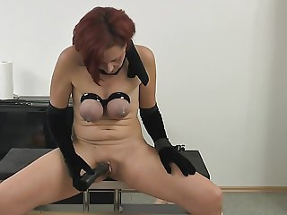 Bound Slave Tits and a wet Pussy