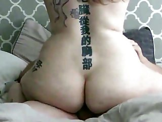 Beautiful cowgirl rides for his cum