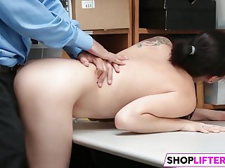 Beautiful Teen Bobbi Gets Drilled For Theft