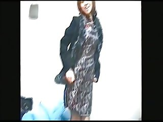 Japanese woman's wife taking off China dress