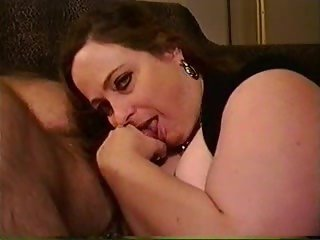 Big Girl with Huge Tits Gagging on Cock
