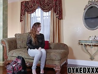 Busty MILF Lexi Luna strapon fucks cute teen Stoney Lynn