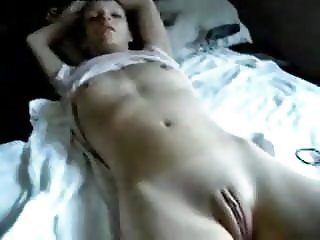 Amateur - Little Tits Fat Pussy Teen Fingered on Bed