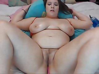 Busty BBW With Dildo