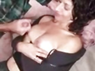 Stranger cums on hot girlfriends tits