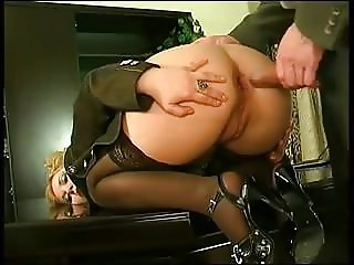 Big Ass & Big Saggy Tits Secretary Assfucked Stockings