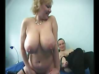 Granny Big Saggy Tits Stockings Fucked