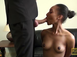Rough fuck with cute Ebony with natural tits Sade Rose