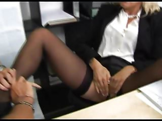 Beautiful slut fucked at her office