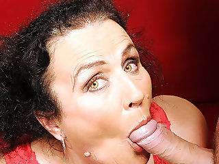 Grandmother loves young cock