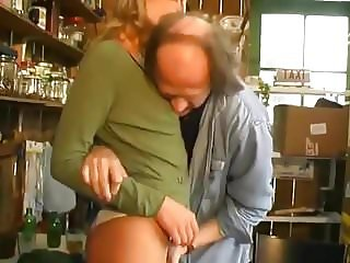 Sexy French girl and the old guy