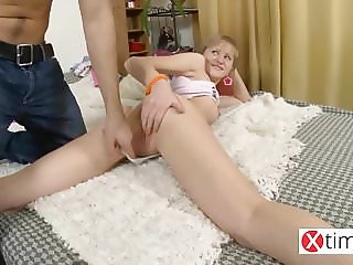So cute but so bitch! Bad little blond get anal punishment