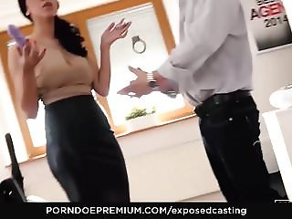 EXPOSED CASTING - Kira Queen gets perky tits squeezed