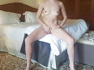 Beautiful Wife Masturbating in Hotel
