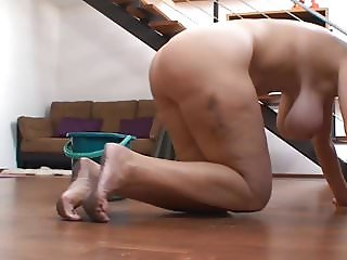 Wife cleaning