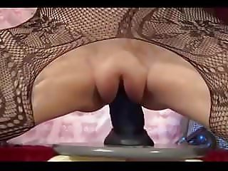 Amateur - Shy Very Fat Pussy Babe Rides Big Dildo to Creamy