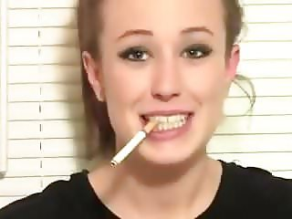 Trisha Annabelle smoking on webcam