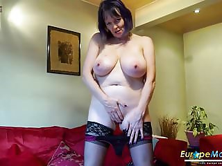 EuropeMaturE Lonely Lady Solo Masturbation Video