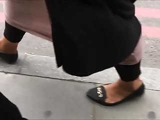 Shoe Fetish - Foot Following BBW Muslima