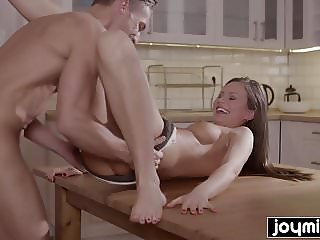 Joymii- hungry guy eats young and  juice pussy for dinner
