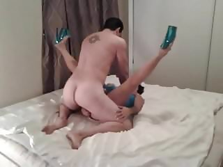 MEXICAN GIRLFRIEND CUCKOLD BLUE HEELS