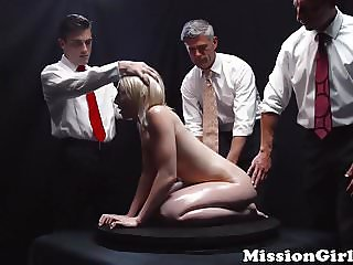 Young Mormon babe purified with a massive creampie