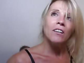 FRENCH milf blonde in party