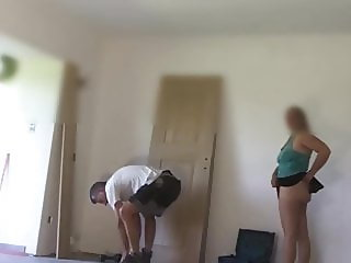 Hidden cam me flashing to handyman part1
