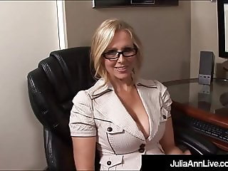 Hot Office Milf Julia Ann Gets A Big Load Of Cum On Her Face