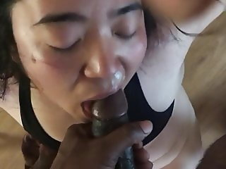 My Chinese friend loves my dick!