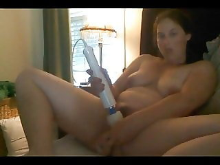 Beautiful, Young BBW Buzzes Cums with her Wand