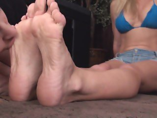 Blonde Girl: Socks and Barefoot (YK)