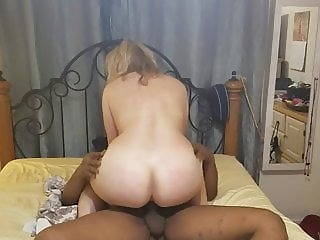 Blonde hotwife riding her BBC