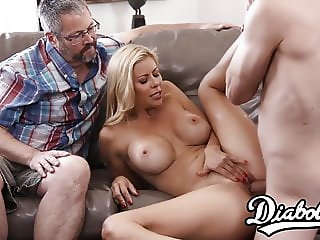 Smoking hot Alexis Fawx makes her hubby a jealous cuckold