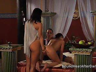 Slaves of Desire:Orgasmic Pussy Massage In Lesbian Threesome