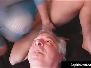 Busty Brit Beauty Sophie Dee Gets Ass & Pussy Worshiped!