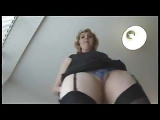 Mature Chrissy does a striptease