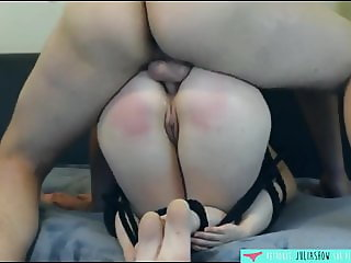 Amateur French girl attached and sodomized - JuliaShow