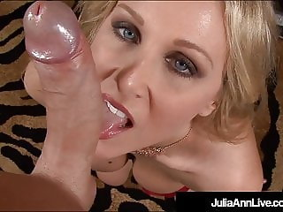 Beautiful Blonde Milf Julia Ann Blows A Cock & Talks Dirty!