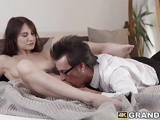 Sensual beauty seduces and gets hammered by fiancee
