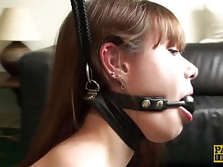 Young subslut Luna Rival ass fucked roughly before creampie