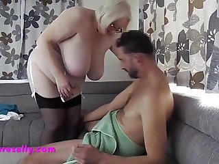 A young mans encounter with Mature Sally