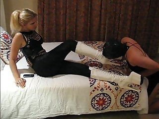 sadobitch - heel mouth fuck for rascal999 - cum slave