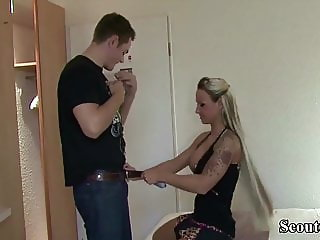 GERMAN STEP SISTER CORA helps Bro and Teach to Anal Fuck
