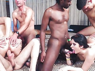 CASTING ALLA ITALIANA - Hot Naughty interracial sex party