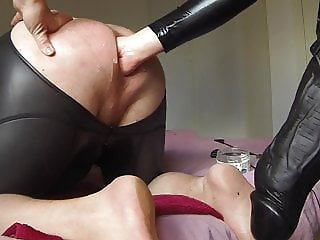 Mistress POV 17 - Mr Cock 30 cm as strapon. XXL mystim plug.