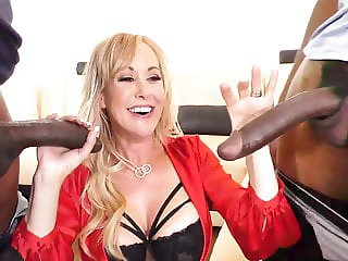 Busty Cougar Brandi Love Interracial Sex